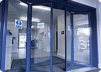 Складывающиеся автоматические двери